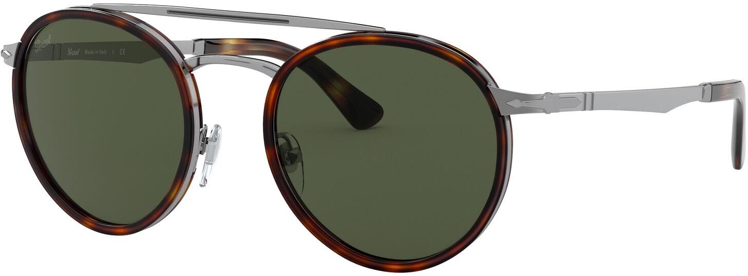 De persol po2467s 513/31 50 is een stijlvolle zonnebril, gemaakt van metaal en uitgevoerd in de kleur zilver. ...