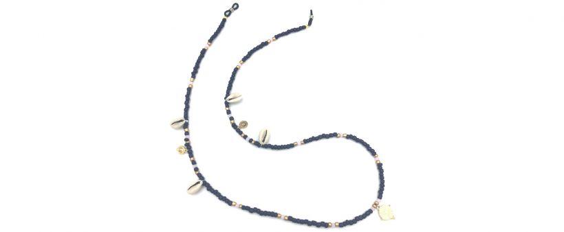 Boho Beach Sunny Necklace - Dark Blue