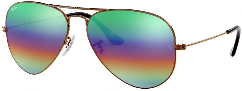 Ray-Ban Aviator Large Metal Mineral Flash Lenses RB3025-9018C3