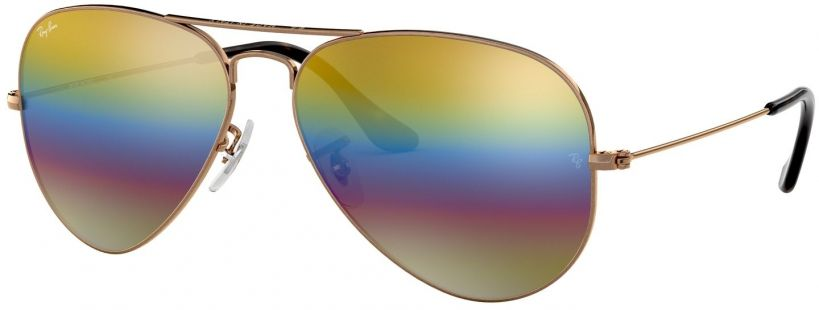Ray-Ban Aviator Large Metal Mineral Flash Lenses RB3025-9020C4