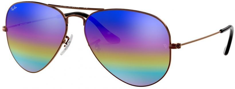 Ray-Ban Aviator Large Metal Mineral Flash Lenses RB3025-9019C2