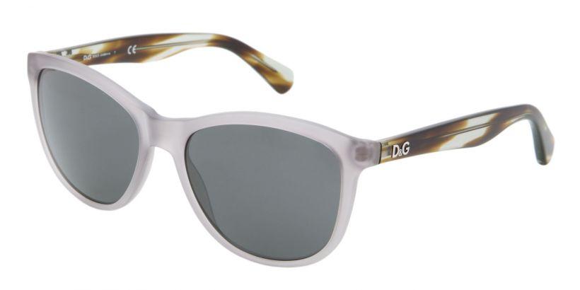 D&G Playful Chique: Matte Grey Transparent - Grey