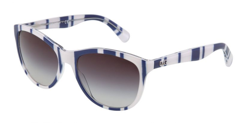 D&G Playful Chique: Stripes Blue White - Grey Gradient
