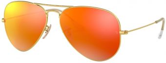 Ray-Ban Aviator Large Metal Flash Lenses RB3025-112/4D-58