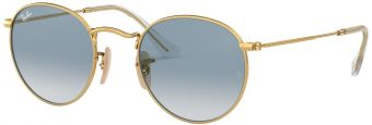 Ray-Ban Round Metal Flat Lenses RB3447N-001/3F-50