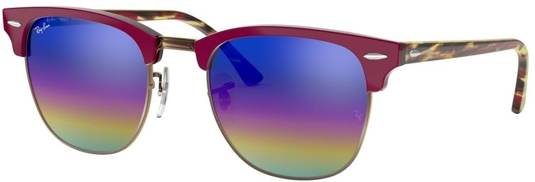 Ray-Ban Clubmaster Mineral Flash Lenses RB3016 1222C2 5121
