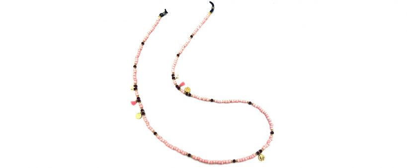 Boho Beach Sunny Necklace - Golden Pink