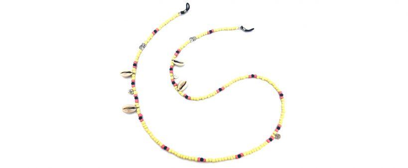 Boho Beach Sunny Necklace - Yellow Pineapple
