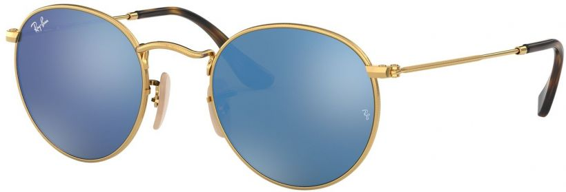 Ray-Ban Round Metal Flat Lenses RB3447N-001/9O