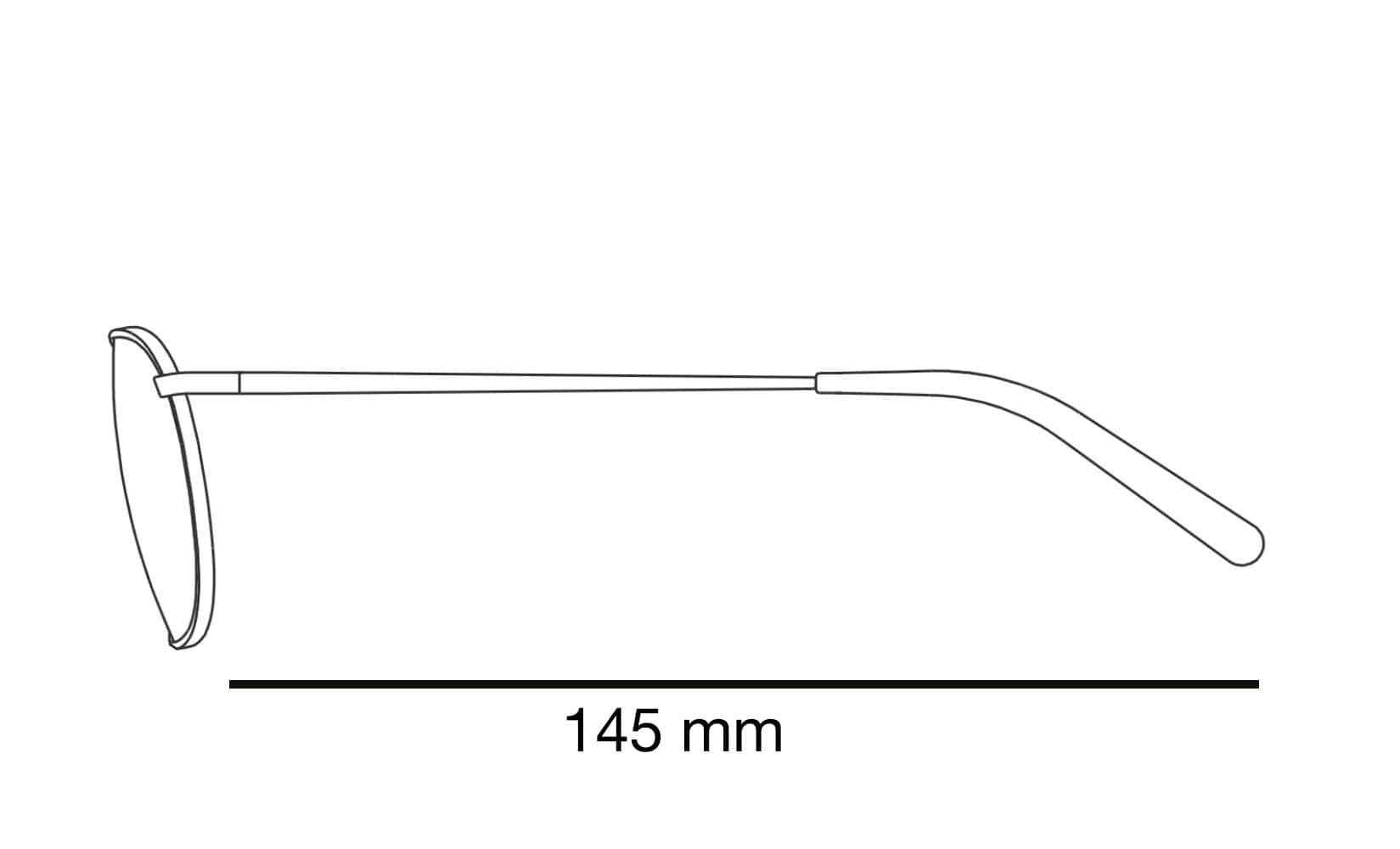 brillenpoot lengte zonnebril