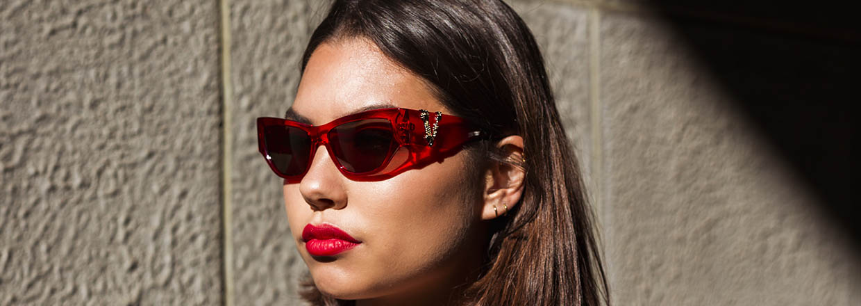 Rode zonnebrillen