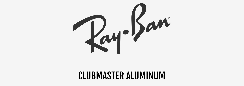 Ray-Ban Clubmaster aluminum zonnebrillen