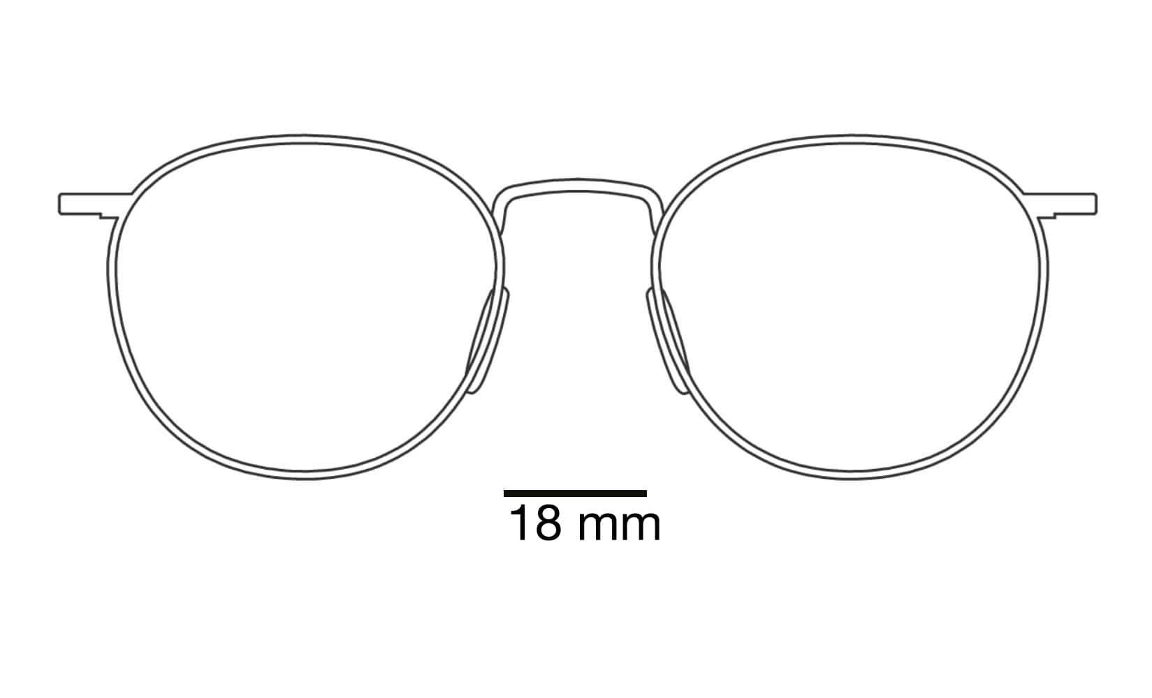 breedte neusbrug zonnebril