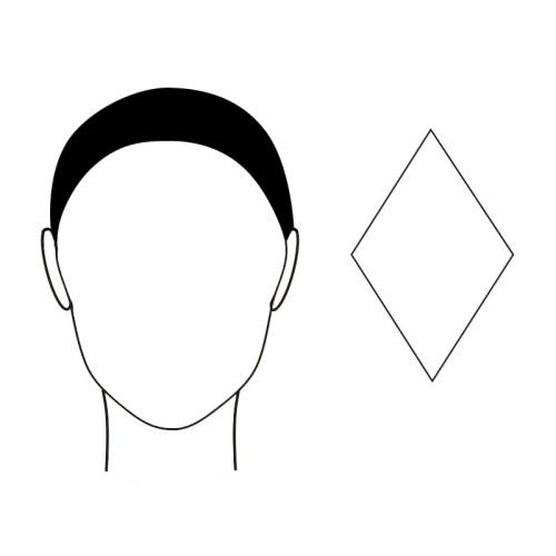 gezichtsvorm diamant zonnebril