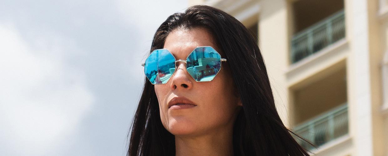 hexagonale zonnebrillen