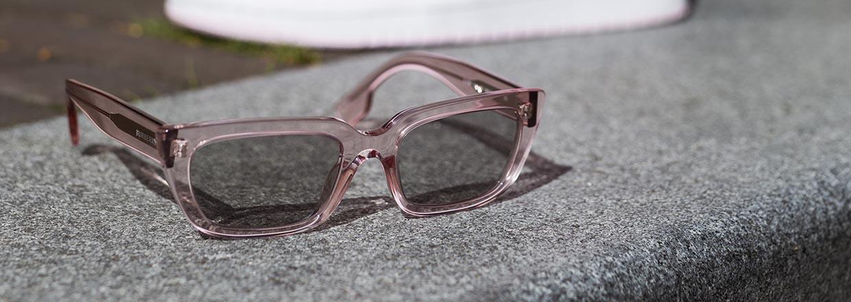 Roze zonnebrillen